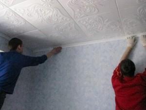 плиточные потолки