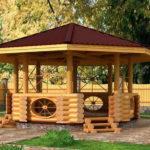 Деревянные беседки — украшение участка