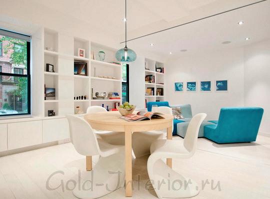 «Бирюзовый диван в интерьере: 10 ярких комнат»