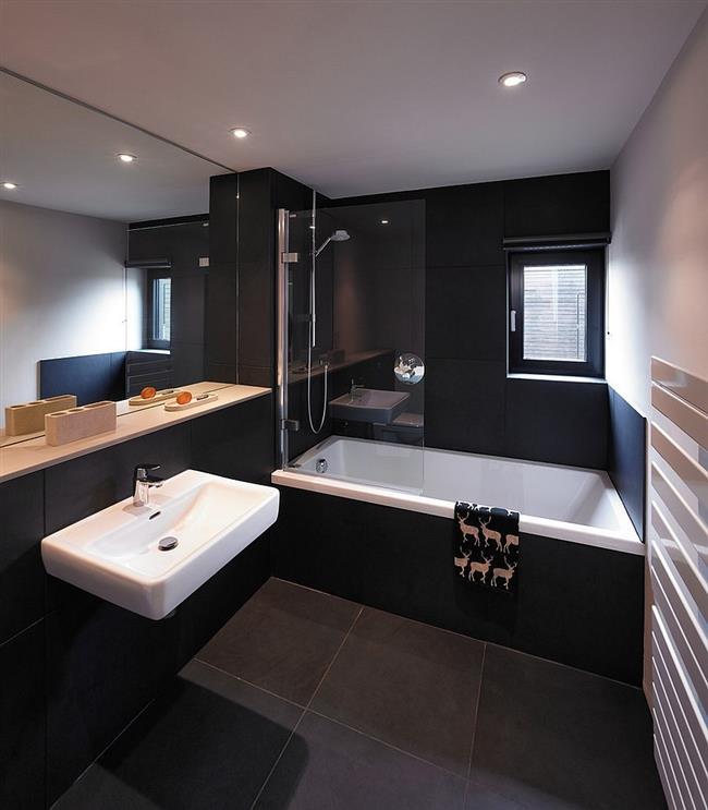Дизайн для ванной комнаты в темных тонах