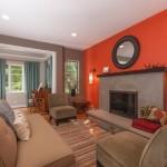 Дизайн интерьера квартиры в оранжевом цвете.