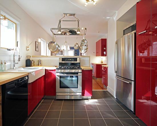 Дизайн красной кухни