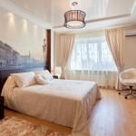 Дизайн натяжных потолков в спальне: особенности выбора и оформления