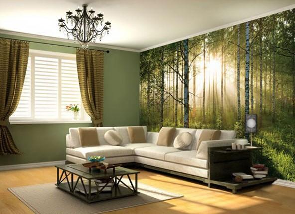 Дизайн обоев для зала: выбираем тип, цвет, дизайн