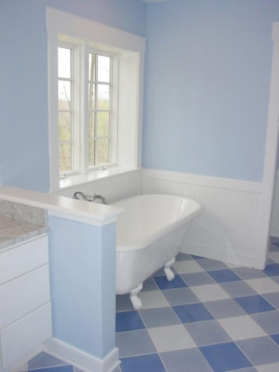 Дизайн пола в ванной комнате
