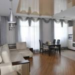 Дизайн совмещенной кухни с залом