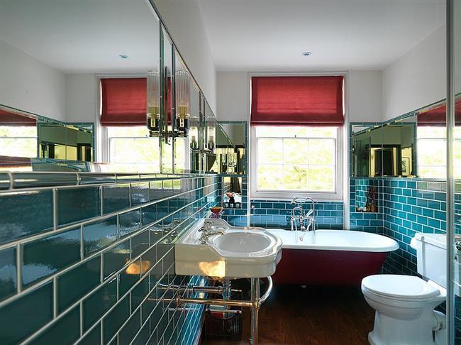 Эклектический стиль интерьера: 15 ярких и необычных ванных синего цвета