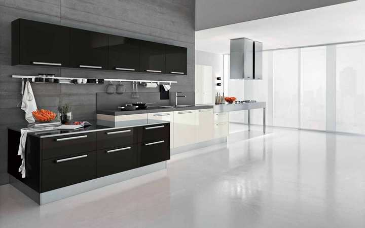 Элегантная черно-белая кухня: стиль и лаконичность