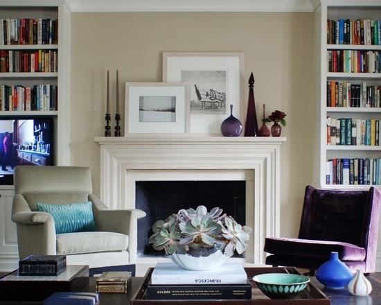 Фиолетовый и сиреневый цвет в дизайне интерьера.