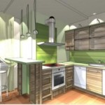 Интерьер кухни с барной стойкой