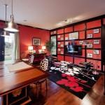 Интерьер в красных тонах: 20 стильных домашних кабинетов насыщенного красного цвета