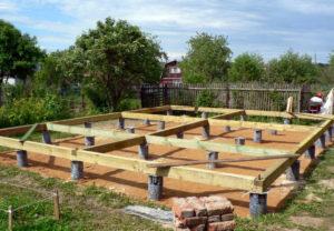 Использование свайного основания для строительства каркасных домов