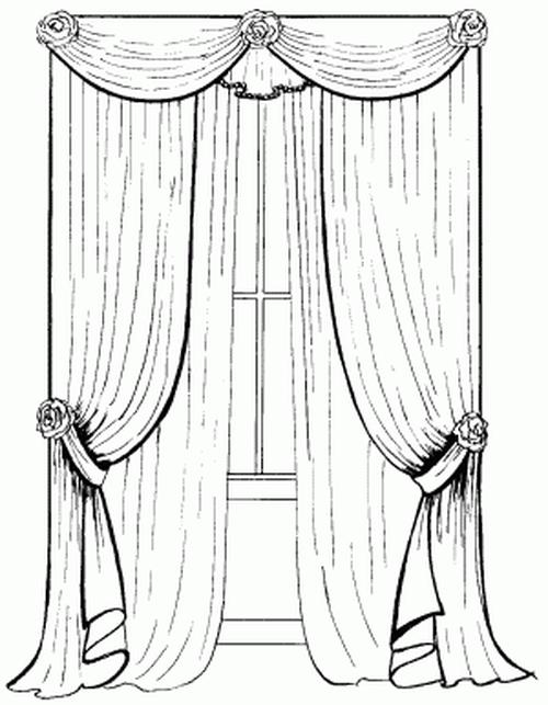 Как делать эскизы штор карандашом
