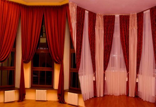 Как выбрать карнизы и шторы для эркера