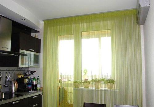 Как выбрать ленточные шторы на кухню