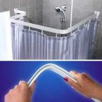 Карнизы для ванной комнаты: виды и формы