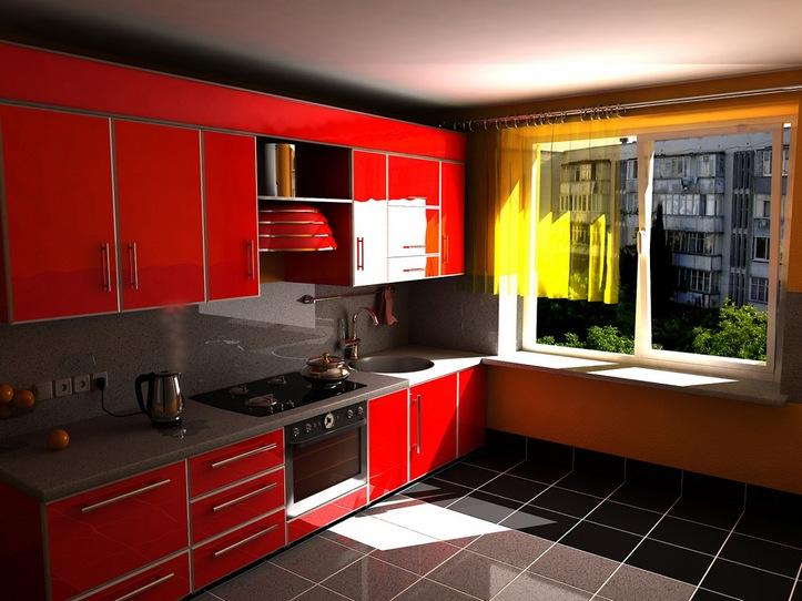 Красная кухня: экспрессивный и яркий интерьер