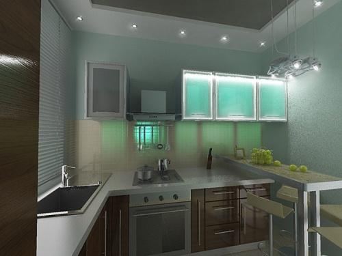Кухни 8 кв. м. Фото