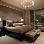 Люстра в интерьере спальни