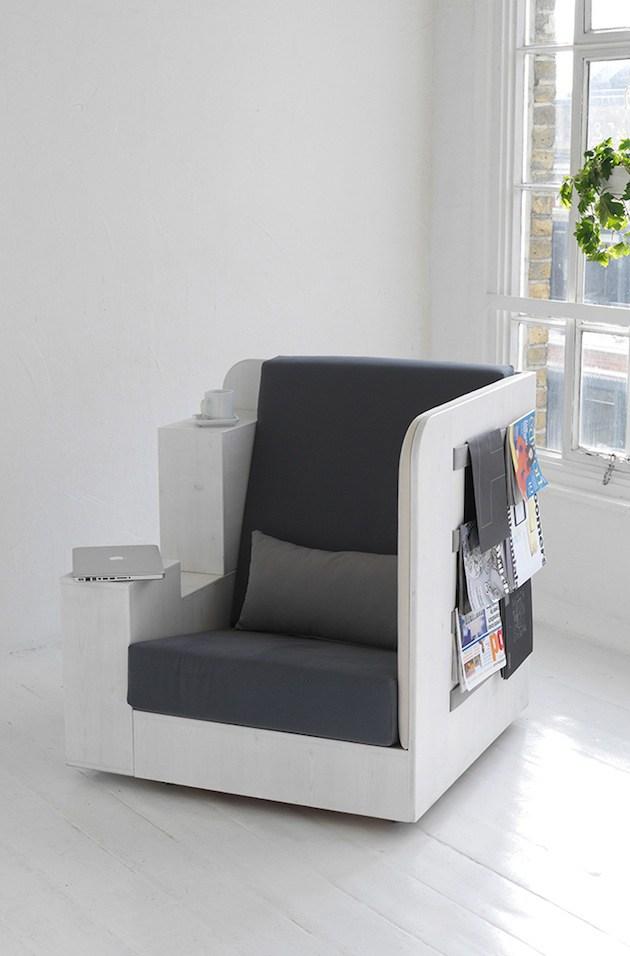 Мебель недели: модульное и многофункциональное кресло-офис для чтения