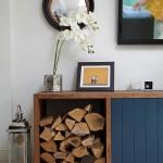 Натуральное дерево в интерьере или как сделать дровник своими руками: 30 креативных идей