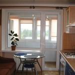 Небольшая кухня с балконом: варианты дизайна
