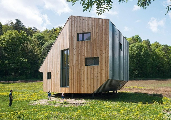 Нестандартный энергосберегающий дом в Словакии