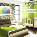 Оформление интерьера спальни с детской кроваткой