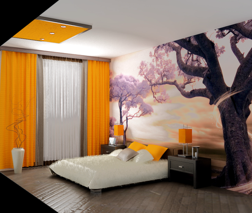 Оформляем шторы на стене: варианты интерьеров