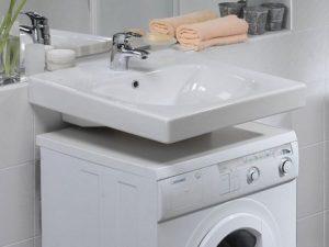 Особенности установки раковины над стиральной машинкой