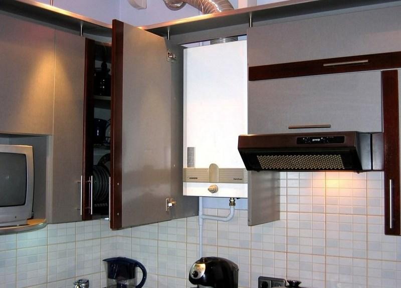 Планируем ремонт кухни в хрущевке с газовой колонкой: лучшие идеи дизайна