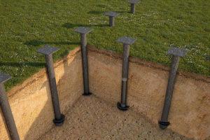 Подземное строительство с использованием винтовых свай