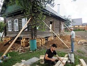 Ремонт деревянных домов с заменой фундамента