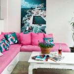 Розовый диван в интерьере: мебель с игривым настроением