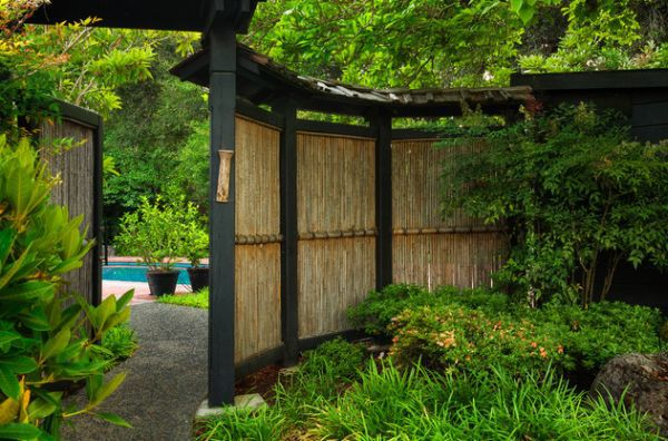 Сад в японском стиле в европейском саду