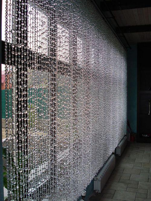 Шторы из стекляруса: фото идеи интерьеров