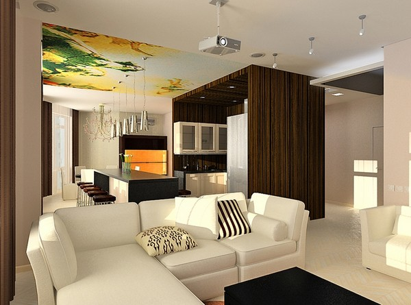 Советы по созданию дизайна гостиной, совмещенной с кухней