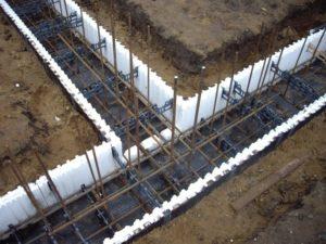 Строительство дома, закладка фундамента