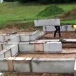Устройство фундаментов из фундаментных блоков