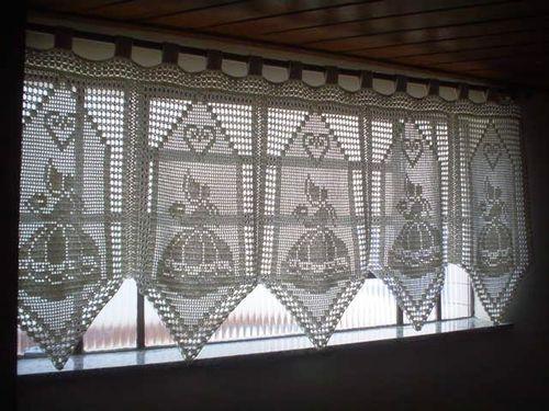 Вязанные крючком шторы в интерьере