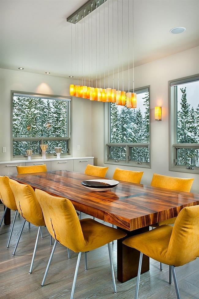 Желтый цвет в интерьере: 15 восхитительных солнечных столовых