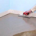 Как выровнять пол под плитку
